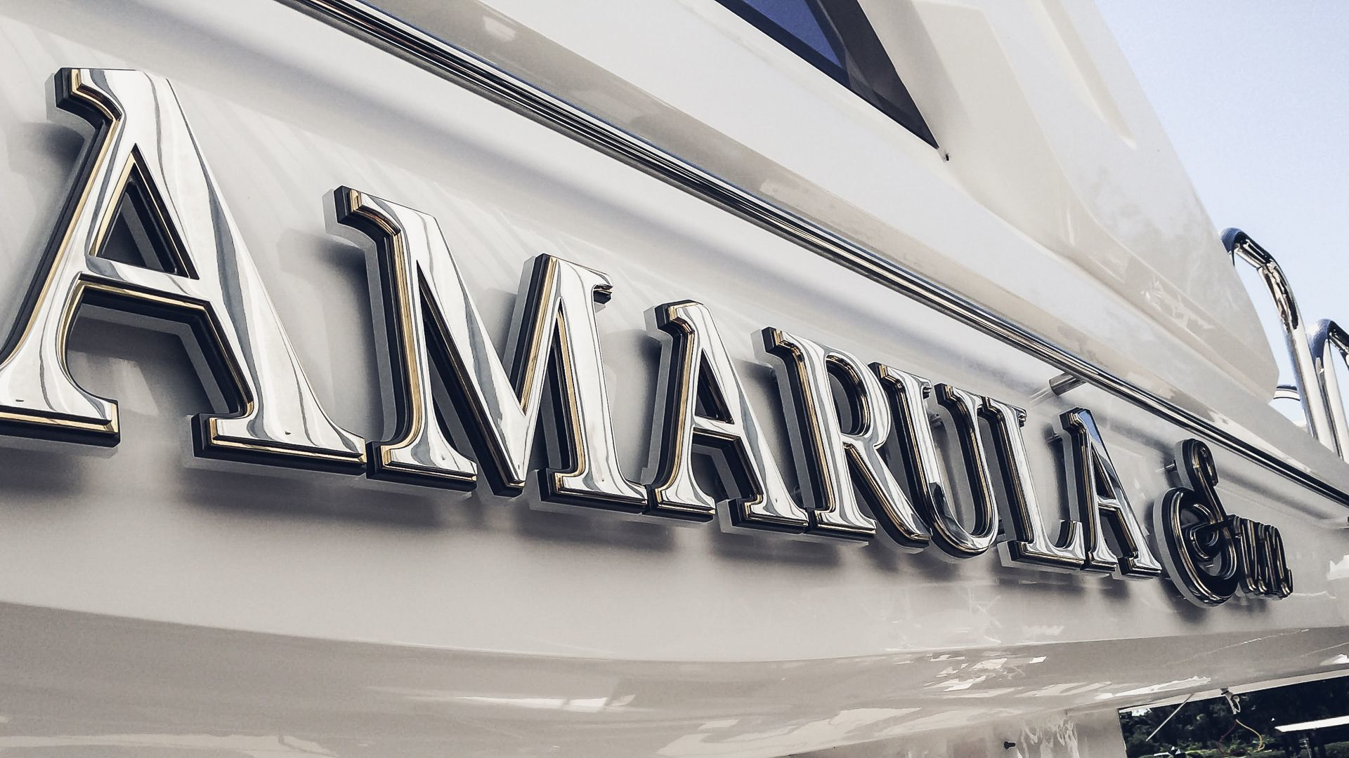 Yacht sign illuminated letters by yachtsign