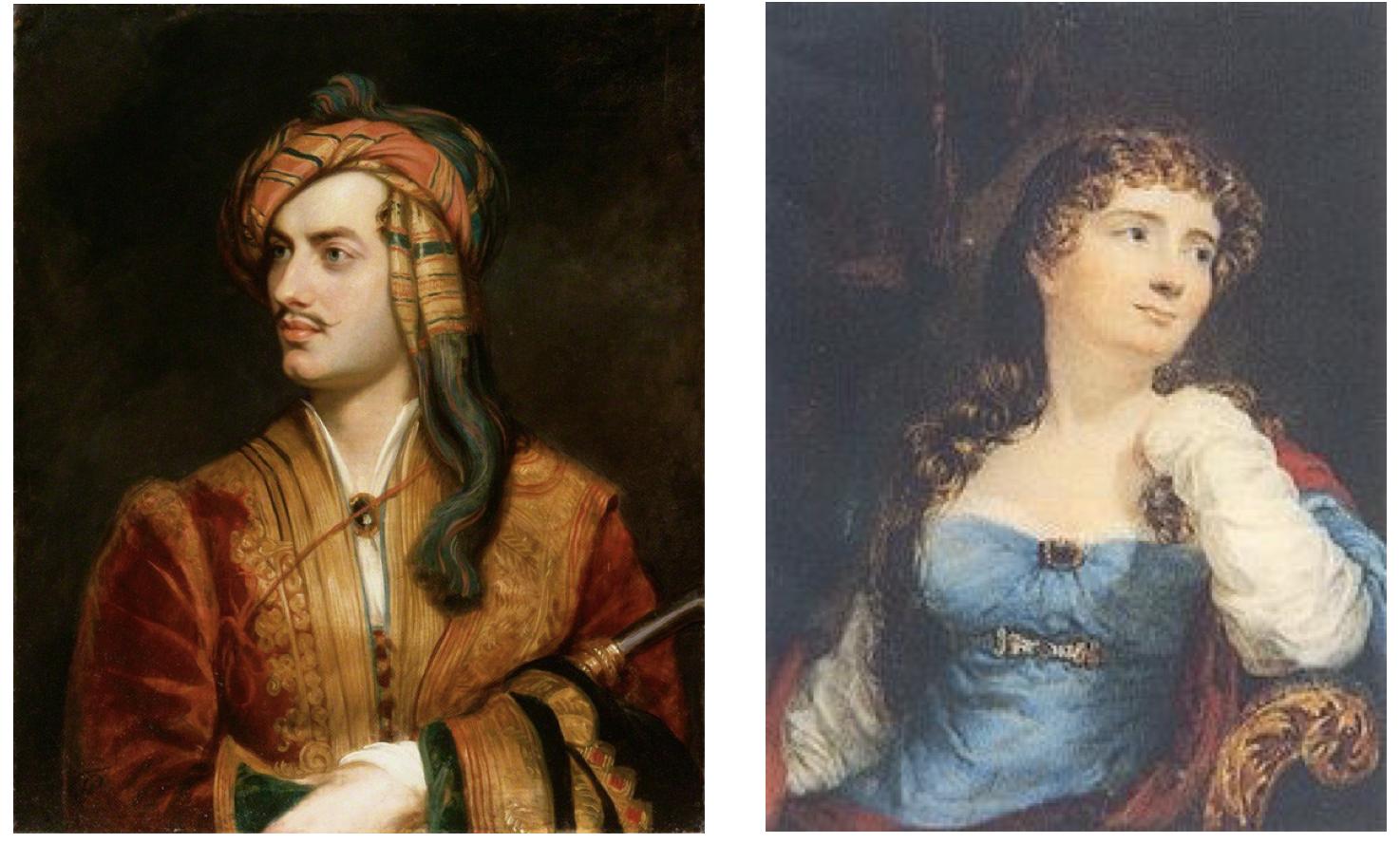 Lord Byron y Anne Isabella Byron, los padres de Ada