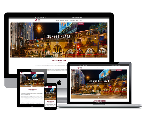best western sunset plaza hotel website across device