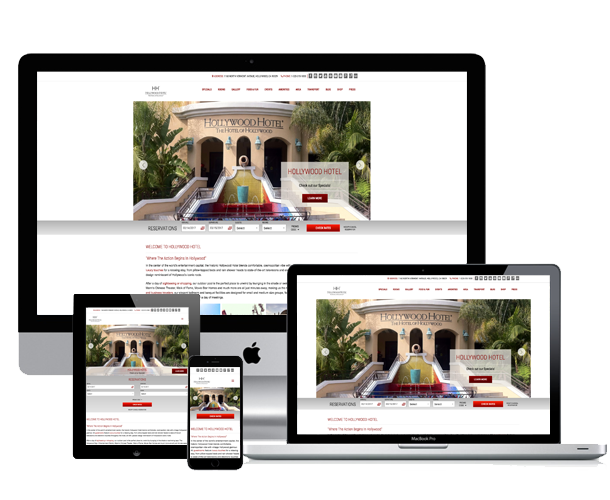 the hollywood hotel website across device