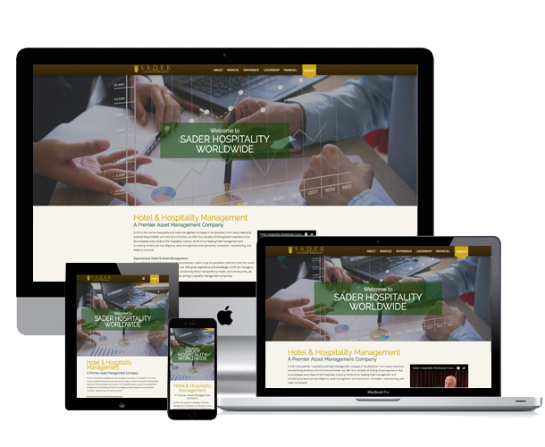 hollywood hotel website across screens