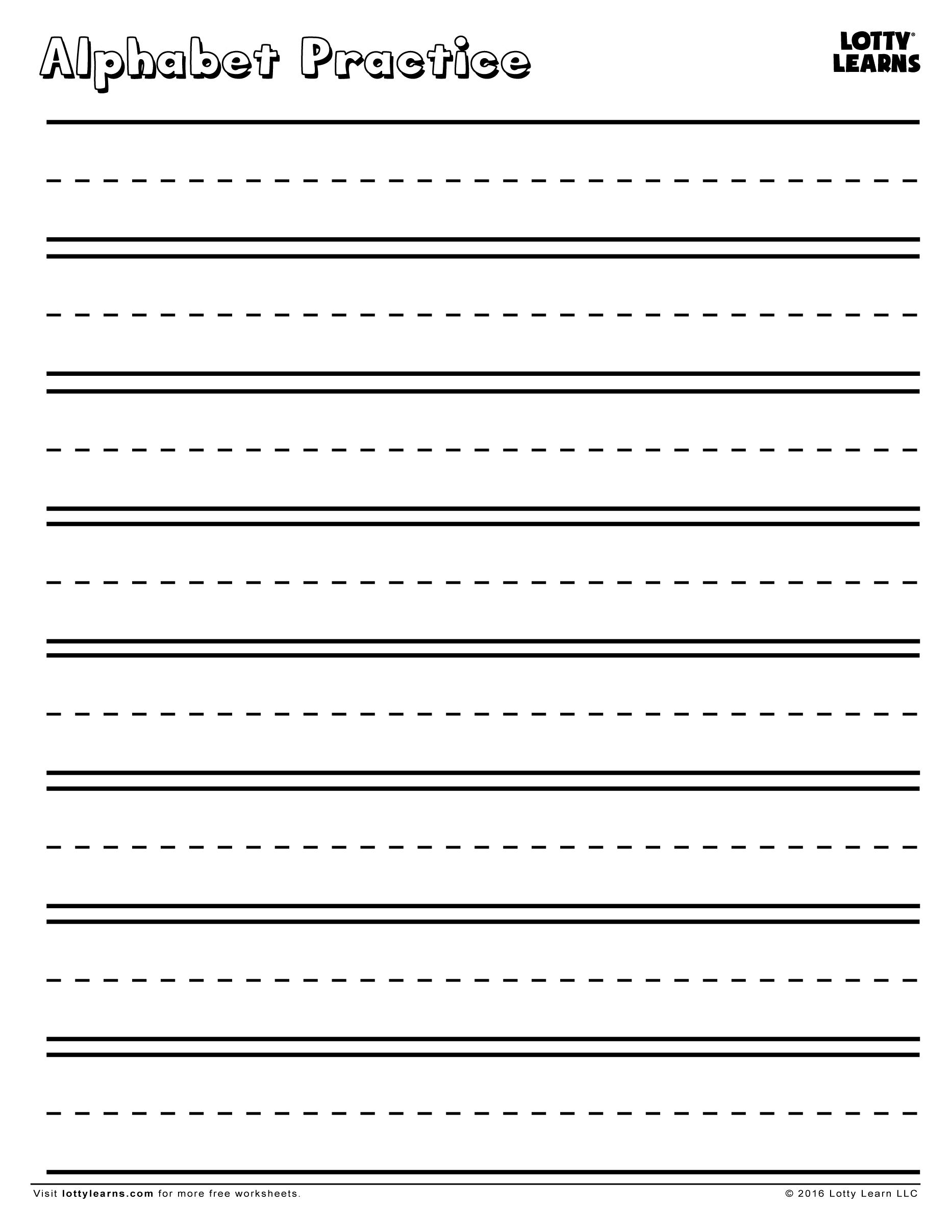 Alphabet Practice Sheet | Lotty Learns