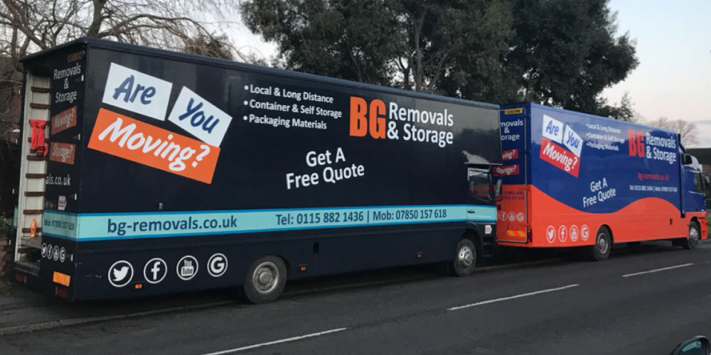 photo of BG removals vans