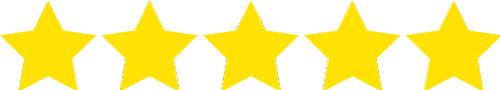 5 of 5 rating stars icon
