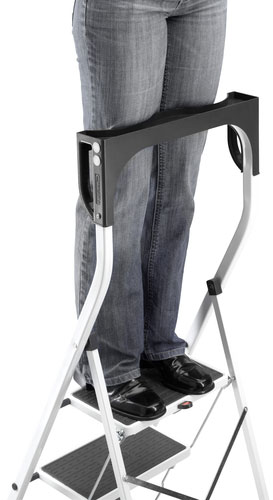 Ultra-high safety rail (63 cm) with ergonomic knee rests for extra support when working either side