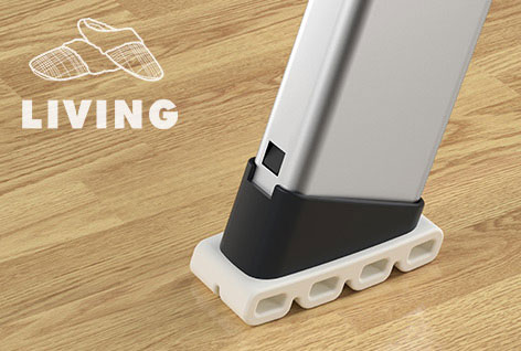 The new EasyClix LIVING Foot protects delicate floor coverings, such as parquet, laminate, vinyl and marble, from scratches and streaks and is particularly slip-resistant.