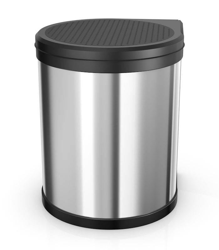 The compact fitted waste bin with plenty of space and the unique lid-lift system.