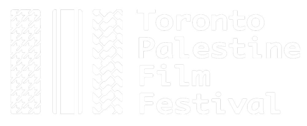 TPFF logo colour white