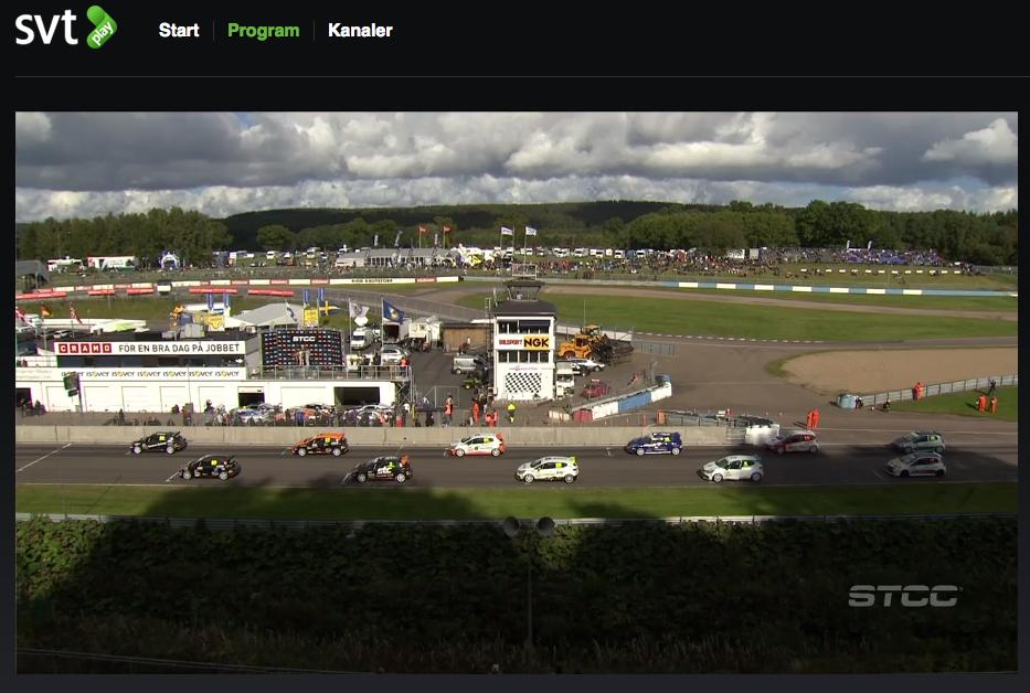 Startfältet i Clio Cup på Knutstorp 2015