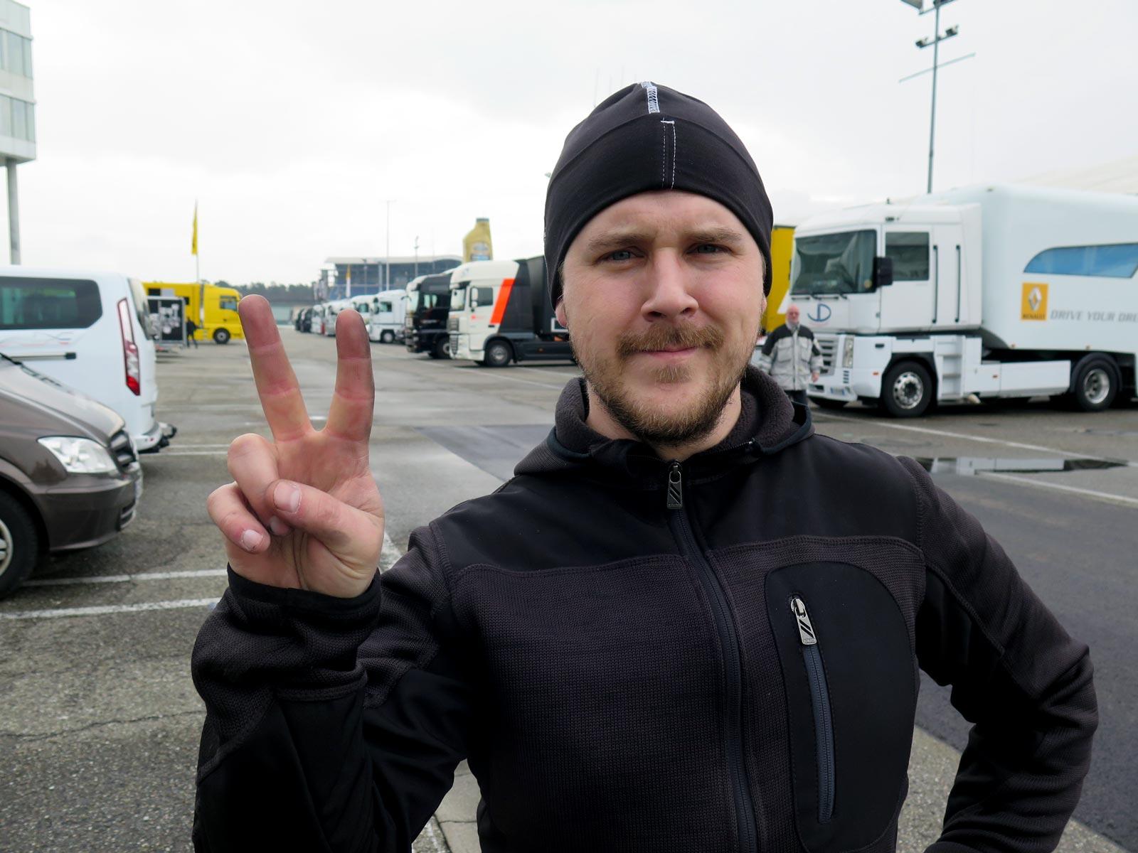 Johan Wärnelöv på Hockenhiemring racingbana,