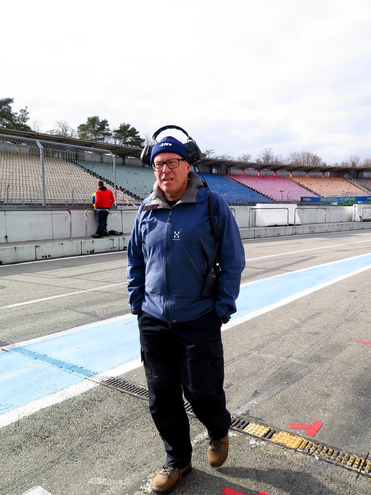Johnny Wärnelöv i pit lane på Hockenhiemring