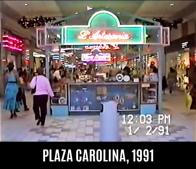 Foto vieja de L' Artesanía en Plaza Carolina en el 1991, Carolina, Puerto Rico.