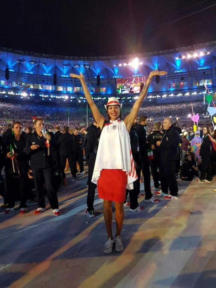 Karina Ocasio de Carolina, Puerto Rico en las Olimpiadas de Rio 2016.