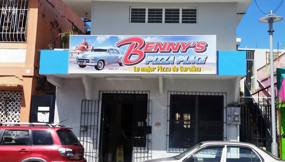 Benny's Pizza Place, Carolina, Puerto Rico.