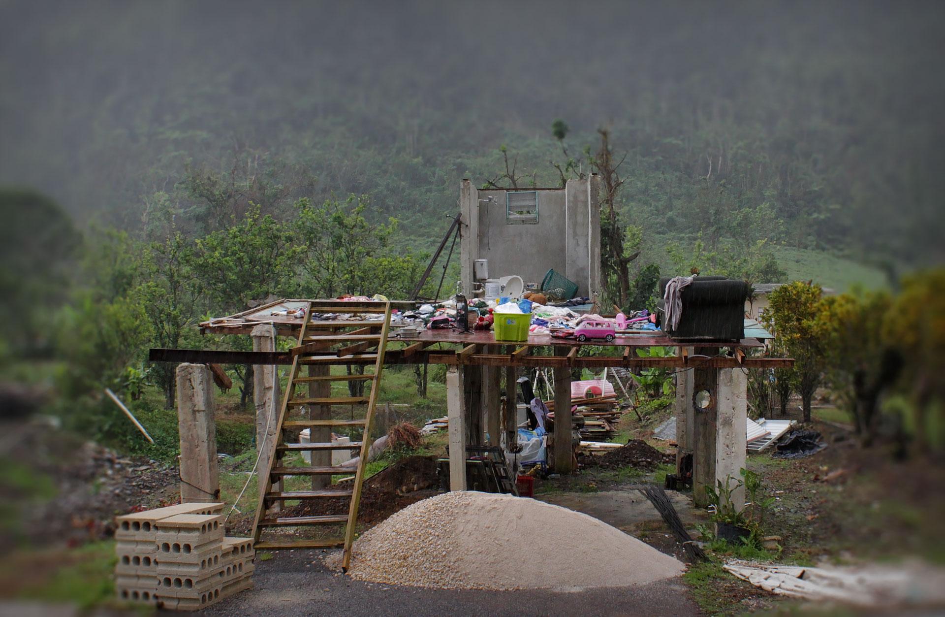 Casa destruida en Puerto Rico tras el Huracán María.