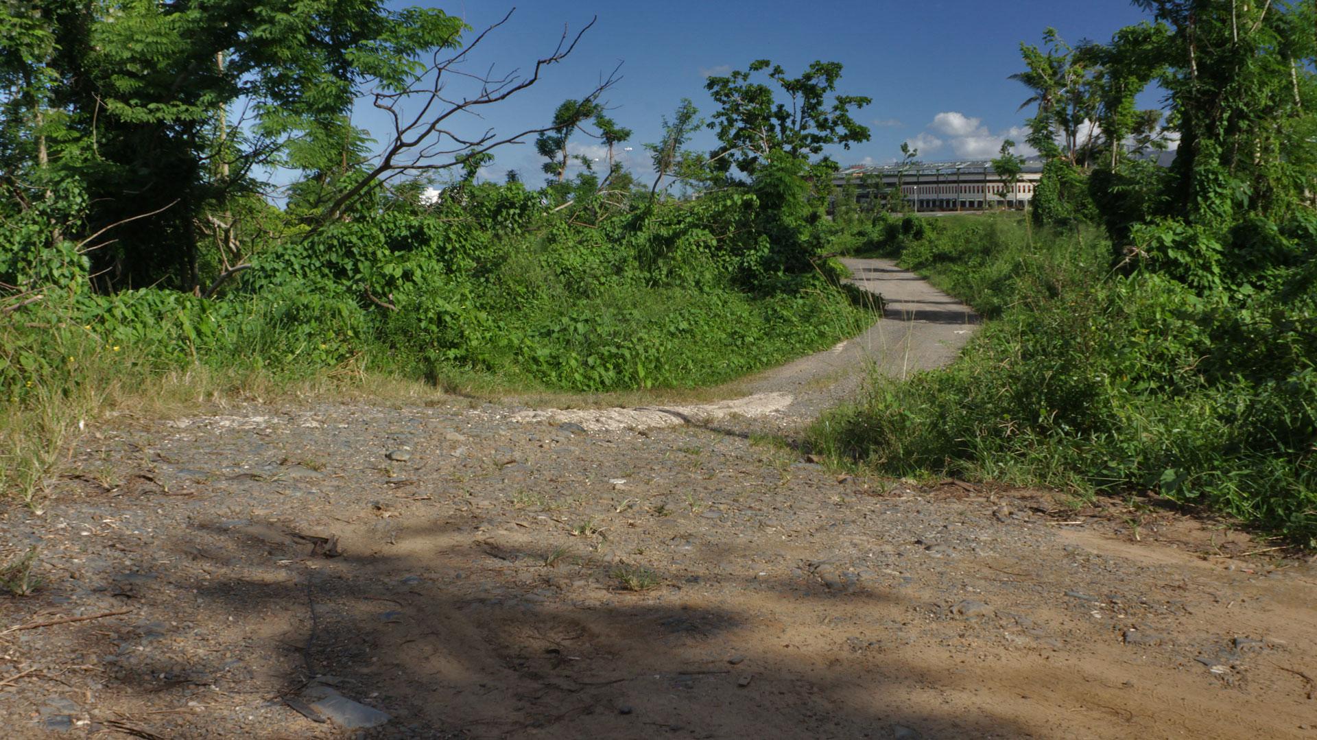 Caminando desde Villa Caridad al Puente Julia De Burgos en Carolina, Puerto Rico.