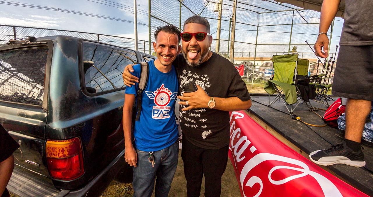 """Rapero Falo """"El Rey de Carolina"""" y Emmanuel Pérez Villamil, de Carolina787."""