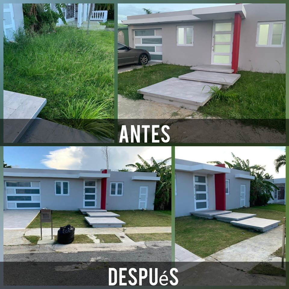 Image may contain: house, tree and outdoor, text that says '!!!!!! ANTES DESPUéS'