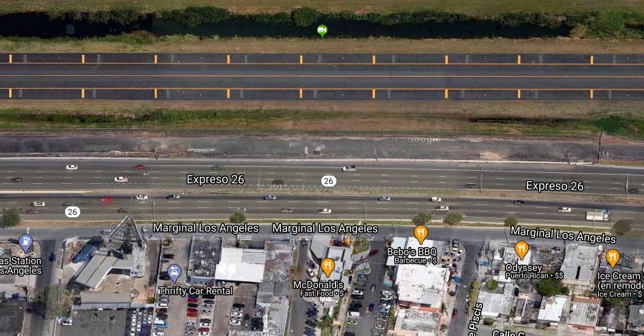 PR-26 entre ave. Los Ángeles y Base Naval