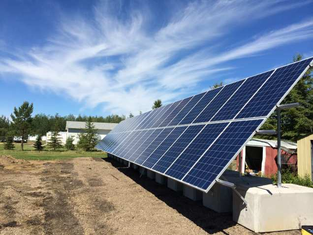 Ground Mount Farm Solar Panels Alberta