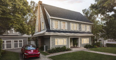 Tesla Textured Glass Solar Roof Shingle Alberta
