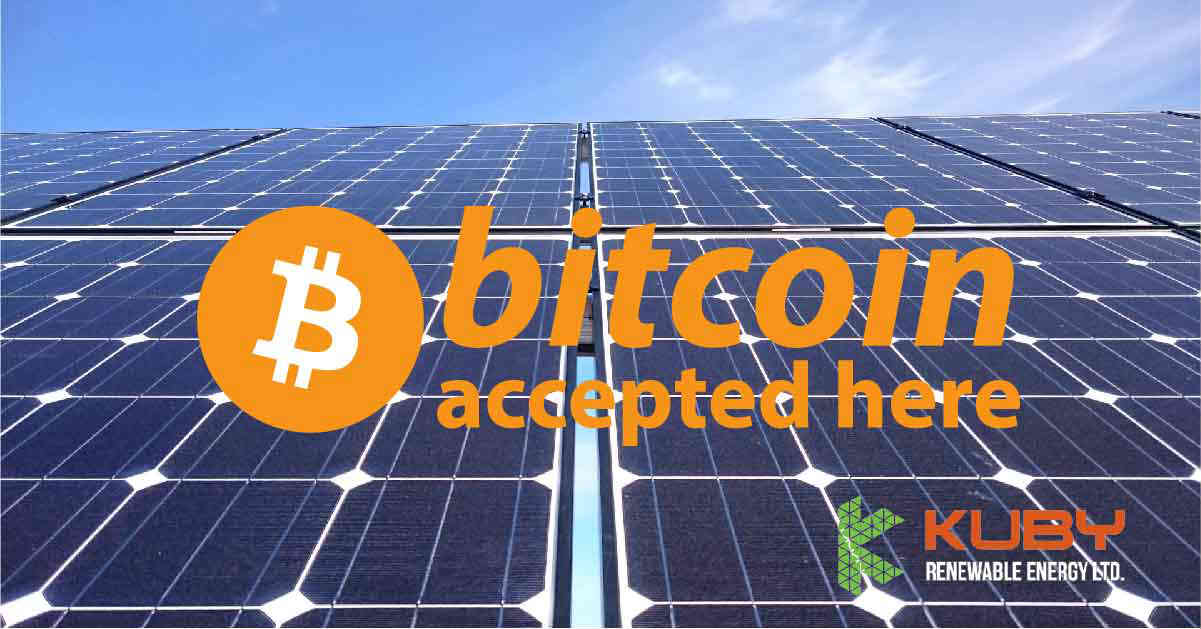 You Can Now Buy Solar Panels with Bitcoin