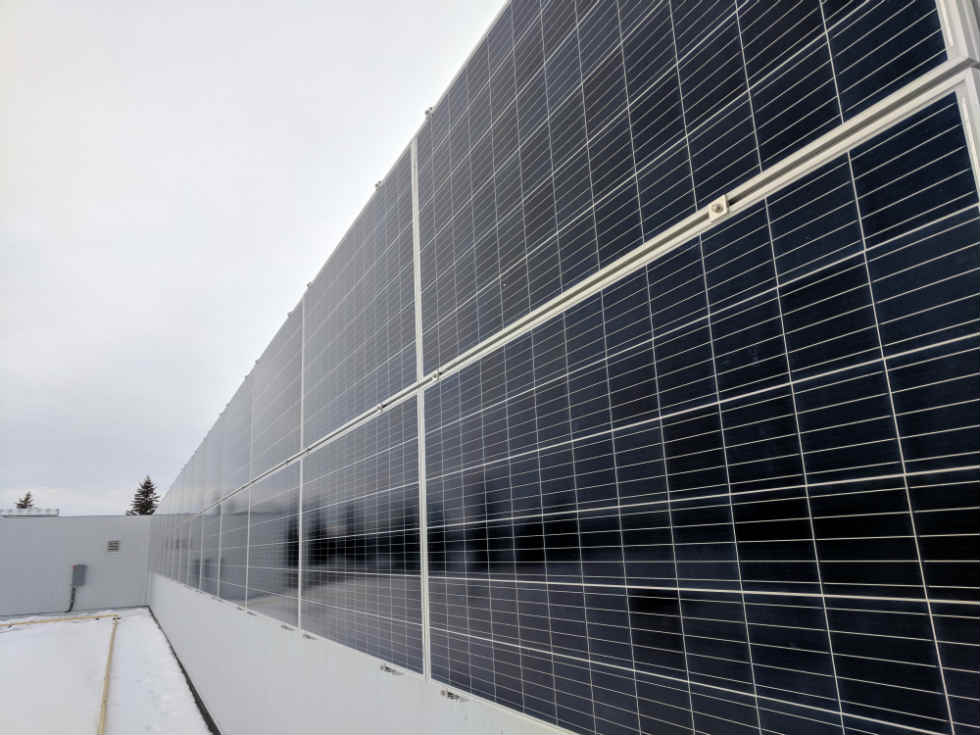 Solar Panels on Wall Edmonton