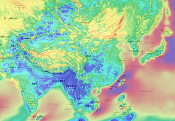 Wind Energy Potential Map Asia
