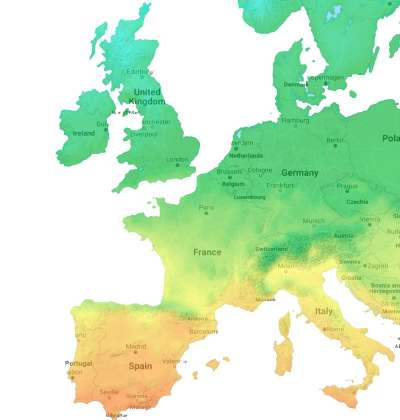 Solar Power Potential Map of Europe