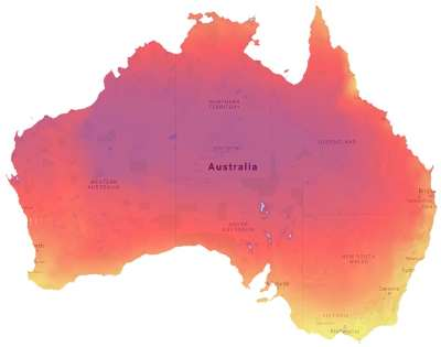 Solar Power Potential Map of Australia