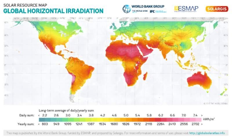 Global Solar Irradiance Map