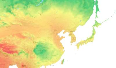 Solar Power Potential Map of Asia