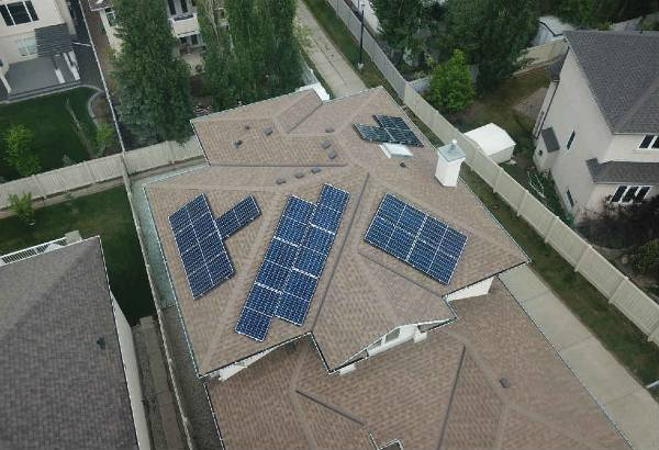 Home With Solar Panels Alberta