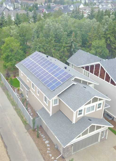 Solar Panels on Home Roof Edmonton