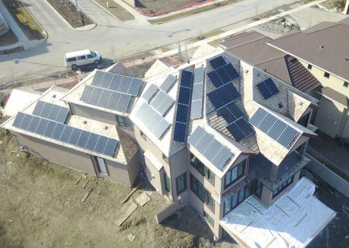 Solar Panels on Cedar Shake Roofing Edmonton