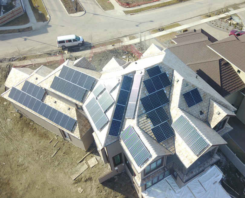 Solar Panels in Edmonton on Cedar Shake Roof