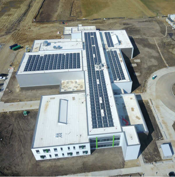 Edwin Parr High School Solar Panels
