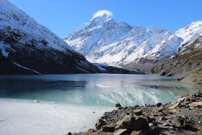 New-Zealand-Glacier-Lake