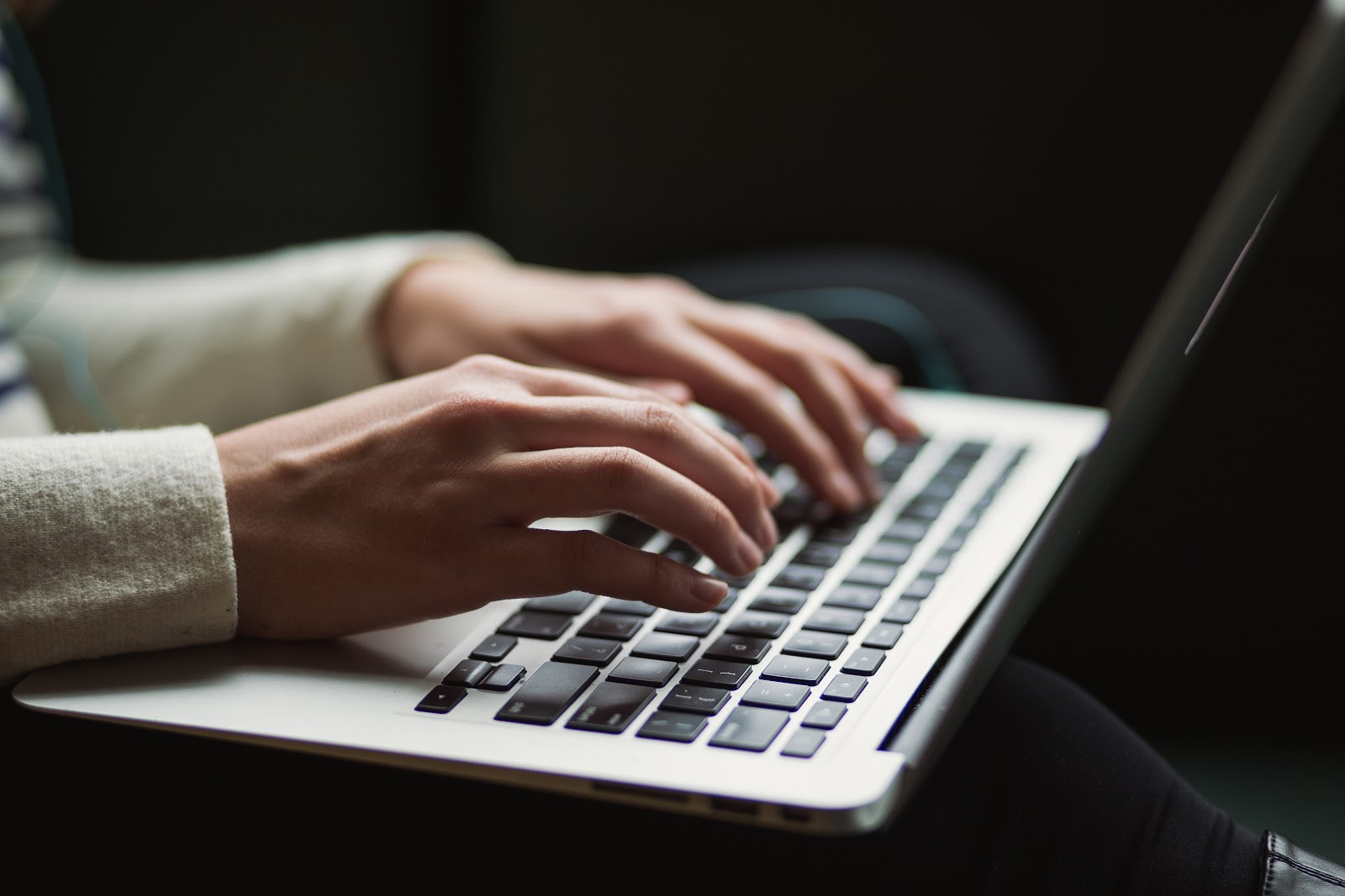 female-researching-on-laptop