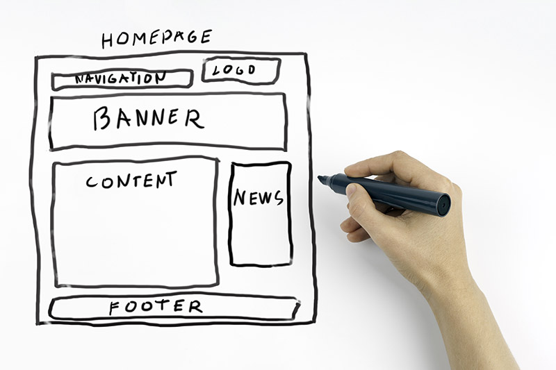 Wireframes on paper are the backbone of any successful website - it shows the designer has thought about their work before starting