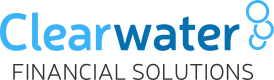 Clearwater financial solutions logo - the client on a project by THEUXDESIGNER