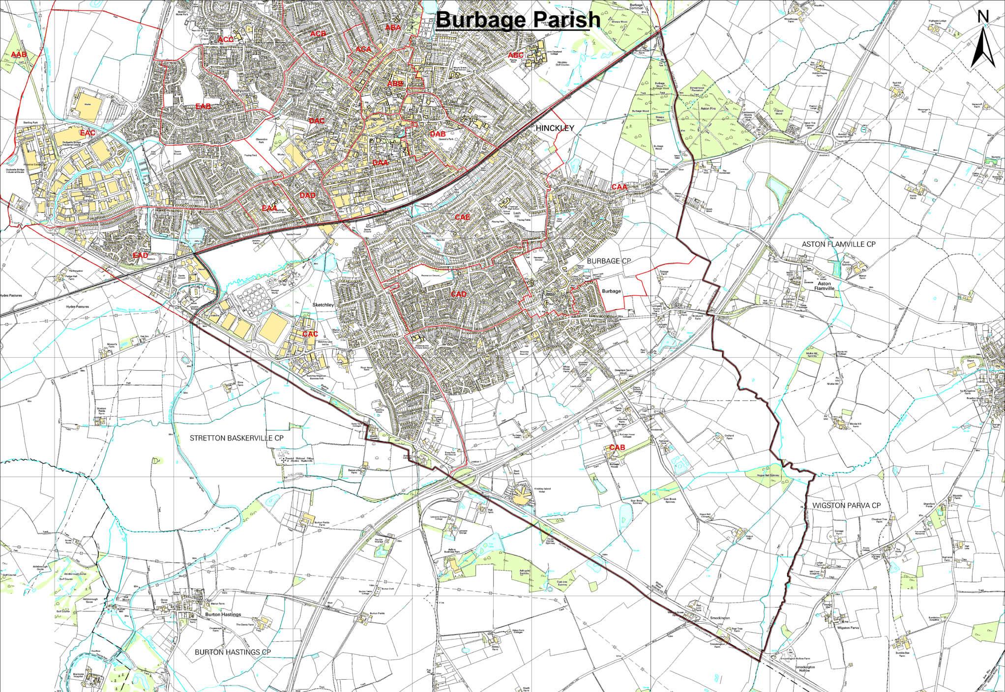 Burbage Parish Map