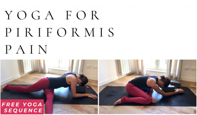 Woman practicing yin yoga for piriformis syndrome