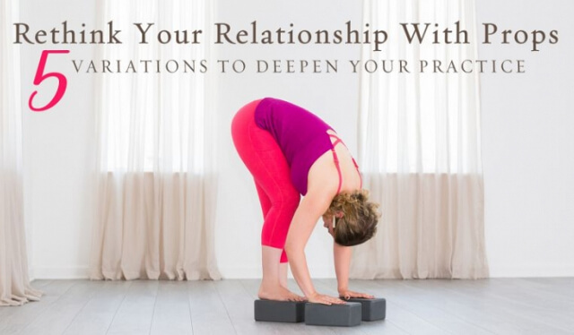 Woman practicing yoga with props to deepen her practice