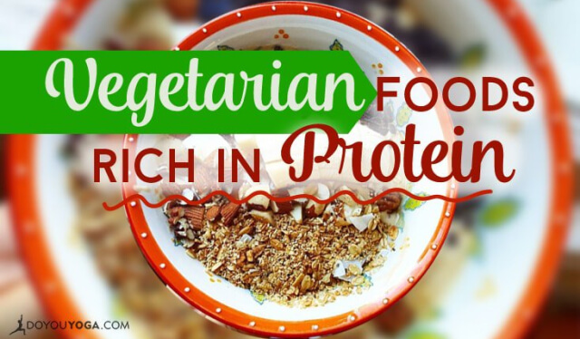 Bowl of vegetarian food that is high in protein and iron