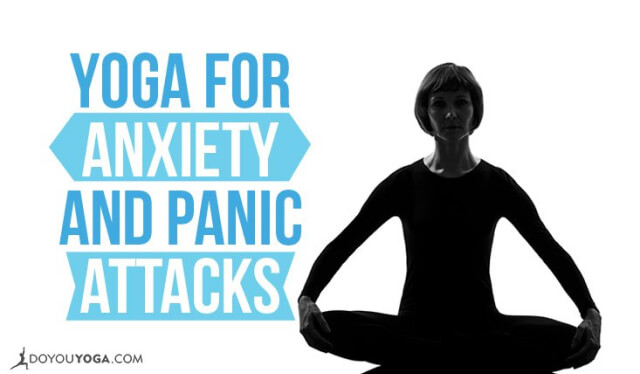 Silhouetted woman sitting in meditation to relieve anxiety and panic attacks