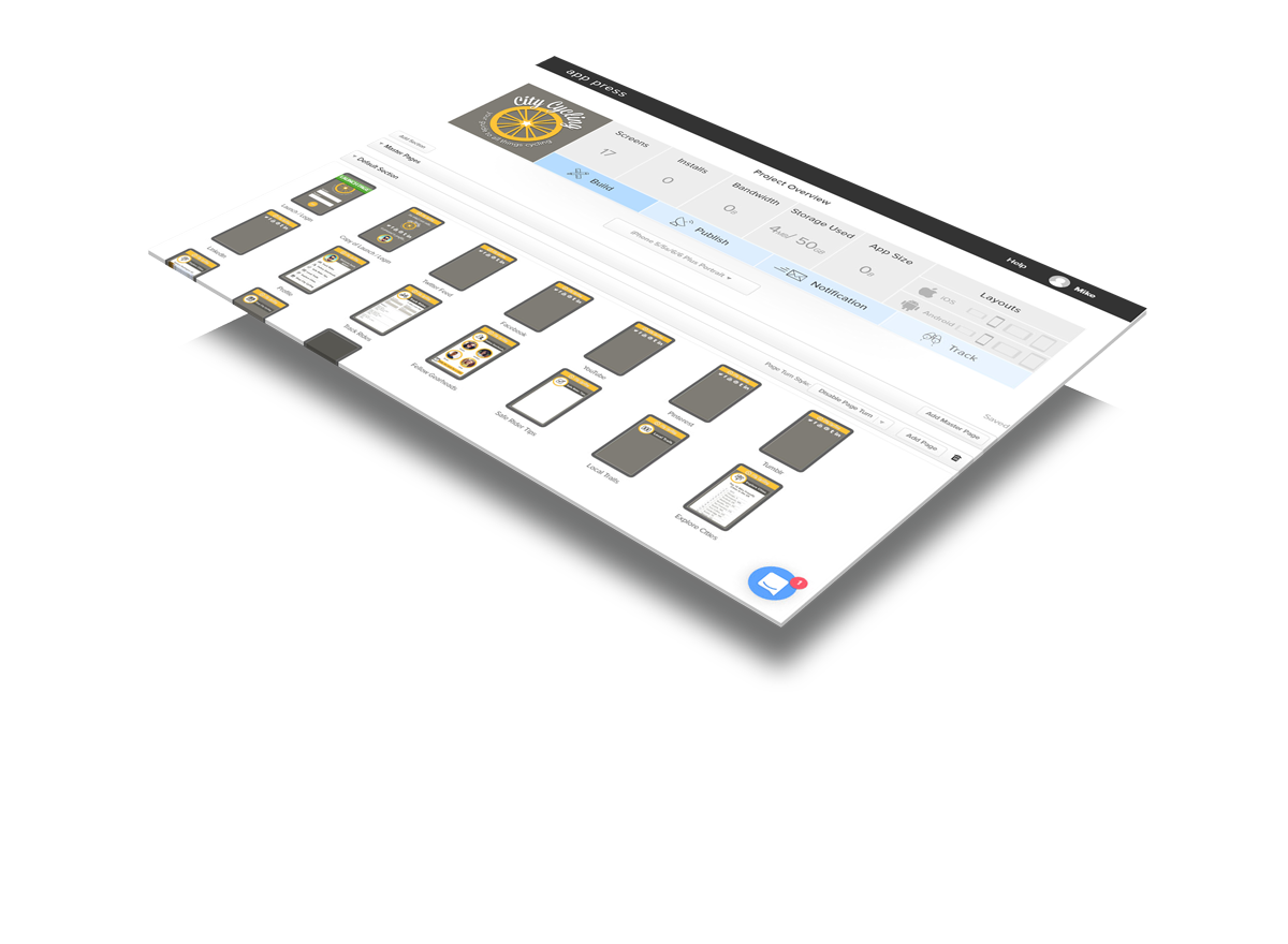 App Press is an easy to use drag and drop app creator.