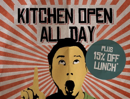 Kitchen now open all day