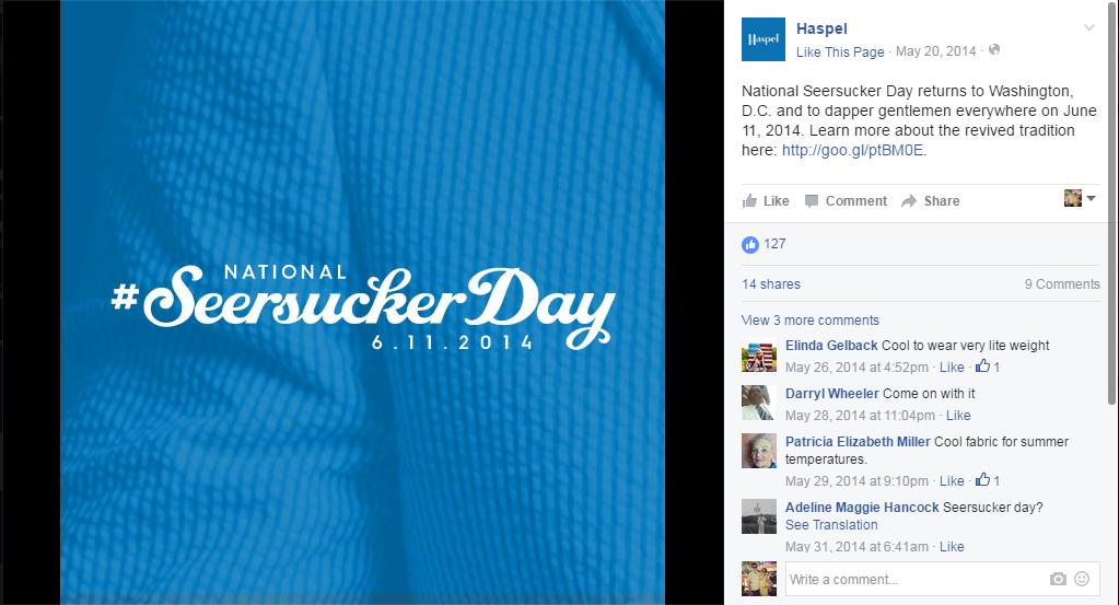 Haspel | Social Media: Seersucker Day 1