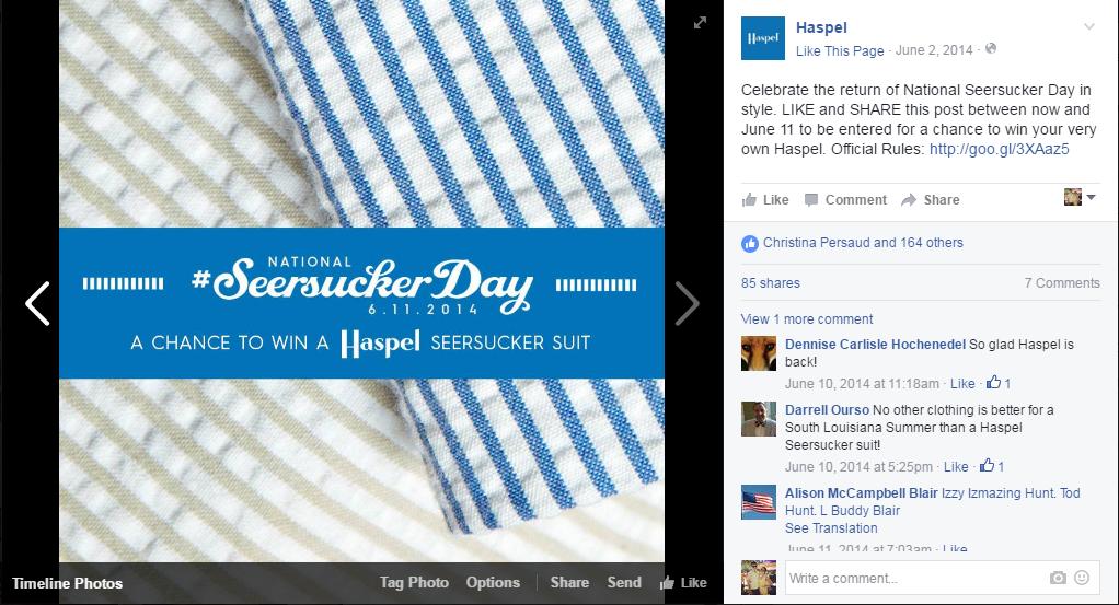 Haspel | Social Media: Seersucker Day 2